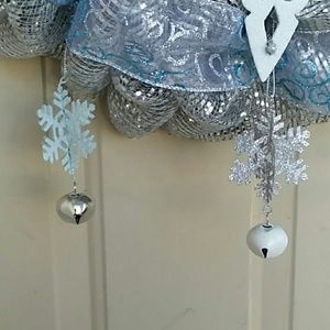 Wreathy Wonders Holiday - Frosty Blue Snowflake Wreath by Wreathy Wonders
